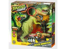 Xtrem Toys Jurassic Battle Mega Monster Beweglicher T Rex mit Licht und Sound 30 cm