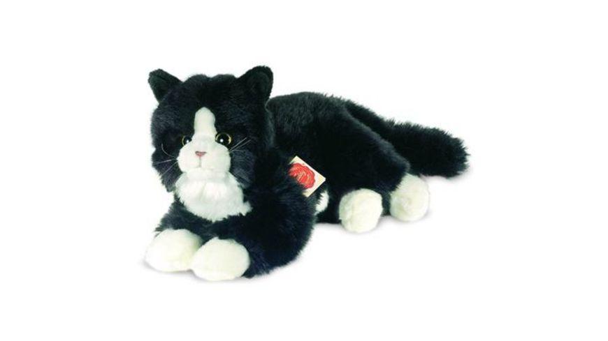 Teddy Hermann Katze schwarz 25 cm