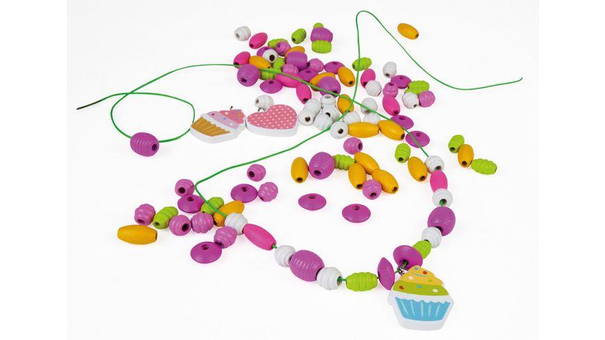 Lena 32001 - Holzperlen Cupcakes pink