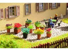 NOCH H0 14031 Blumen in Blumentoepfen 9 Blumentoepfe