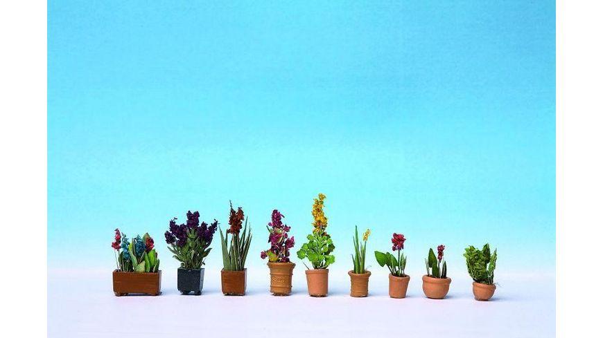 NOCH 14012 Zierpflanzen in Blumentoepfen 9 Blumentoepfe