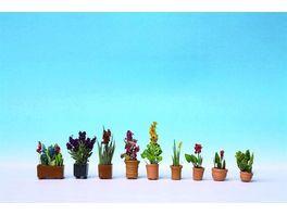 NOCH H0 14012 Zierpflanzen in Blumentoepfen 9 Blumentoepfe