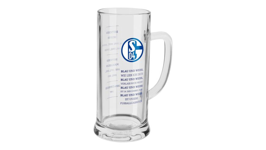 FC Schalke 04 Bierkrug Blau Weiss