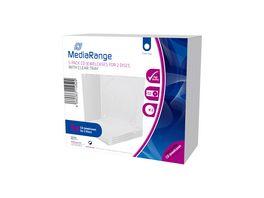 MediaRange CD Leerhuelle fuer 2 Discs 10 4mm transparentes Tray 5er Pack