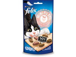 felix Katzensnack Mini Filetti Leckere Huehnchen Lachs Stueckchen