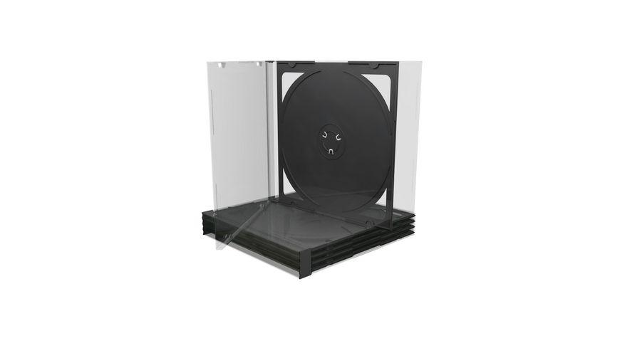 MediaRange CD Leerhuelle fuer 2 Discs 10 4mm schwarzes Tray 5er Pack