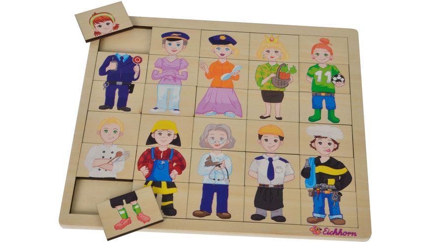 Eichhorn Einlegepuzzle Mix und Match Puzzle mit 30 Steckteilen