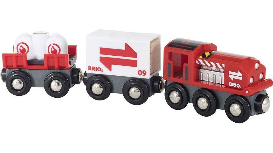 BRIO Bahn Gueterzug mit Frachtladung