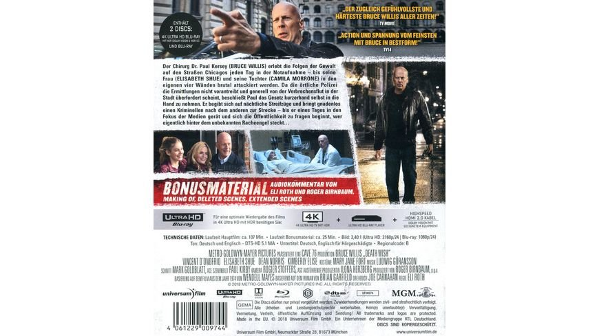 Death Wish 4K Ultra HD Blu ray