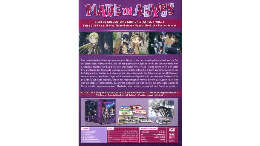 Made in Abyss Staffel 1 Vol 1 Limited Collector s Edition