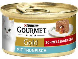 Purina GOURMET Gold Katzennassfutter Schmelzender Kern mit Thunfisch