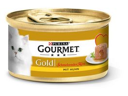 Purina GOURMET Gold Katzennassfutter Schmelzender Kern mit Huhn