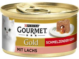 Purina GOURMET Gold Katzennassfutter Schmelzender Kern mit Lachs
