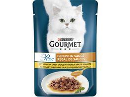 Purina GOURMET Perle Genuss Katzennassfutter in Sauce mit Huhn in Sauce mit feiner Brathuhnnote
