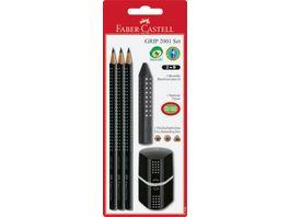FABER CASTELL GRIP 2001 Bleistift Set schwarz