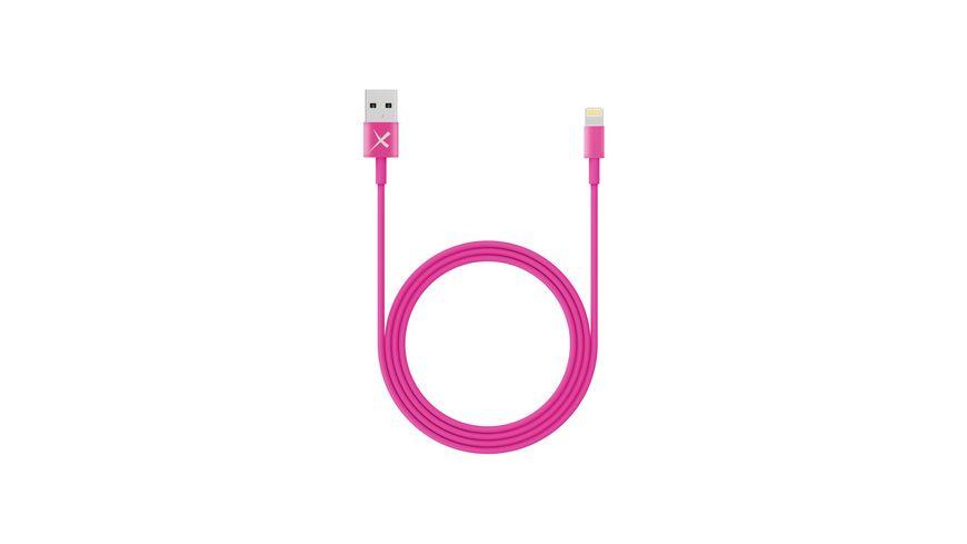 Kabel Colour Line Lightning Lade Sync Kabel 1m Pink