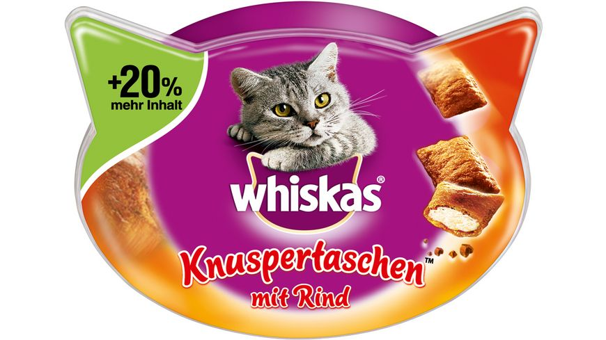 Whiskas Katzensnack Knuspertaschen Rind 72g