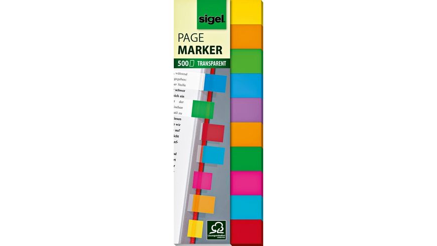 sigel Haftmarker FILM multicolor 44X12 5mm 500 Blatt