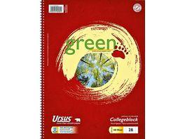 Ursus Green Collegeblock A4 160Blatt Lin28