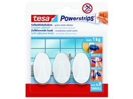 tesa Power Strips Mini Haken oval