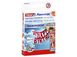tesa Power Strips DECO transparent 16 Stueck