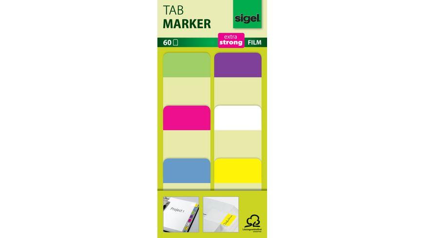 sigel Tabmarker extra stark Neon-Vollfarben 60Blatt