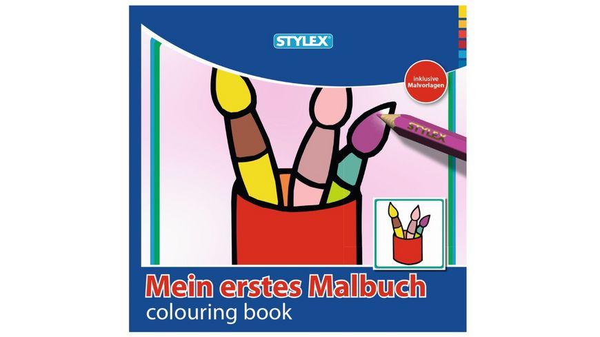 STYLEX Malbuch 192 Seiten Mein 1 Malbuch 15x15cm sortiert