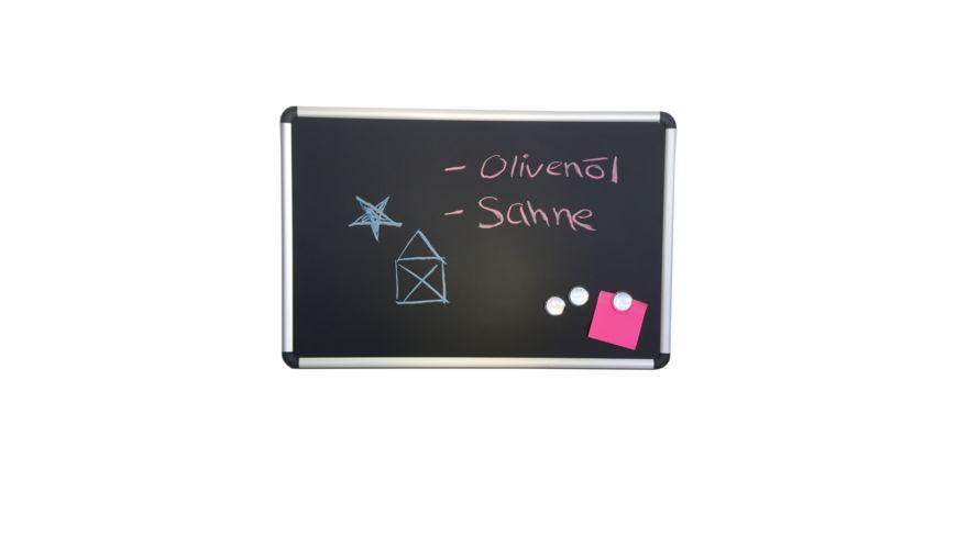 Board fuer Magnete oder Kreide mit Alurahmen 60 x 40 cm
