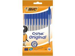BIC Cristal Original Kugelschreiber Stifte Mit Mittlerer 1 0 mm Spitze Blau 10er Pack