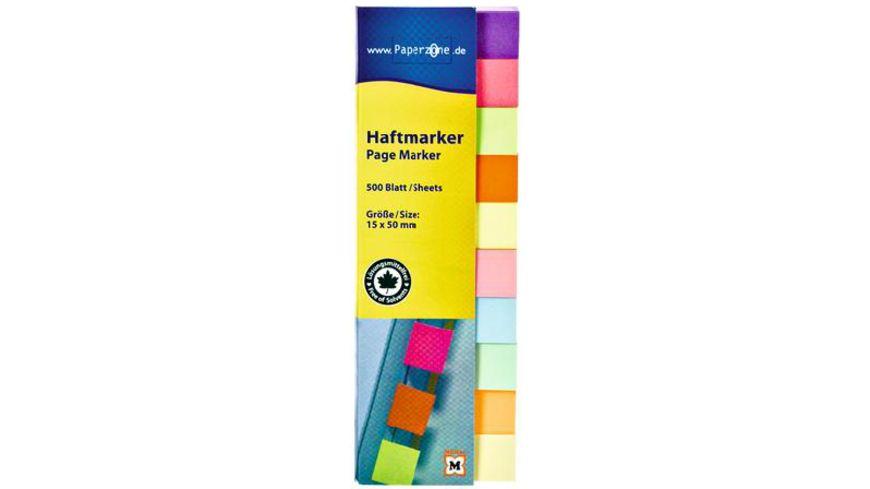 PAPERZONE Haftmarker Multicolor 500 Blatt