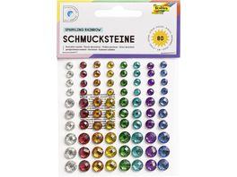 folia Schmucksteine selbstklebend rainbow 80 Stueck