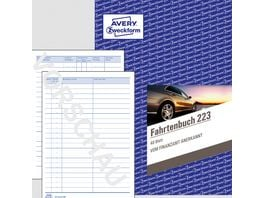 AVERY Zweckform Fahrtenbuch 223 steuerlicher km Nachweis mit Jahresabrechnung DIN A5