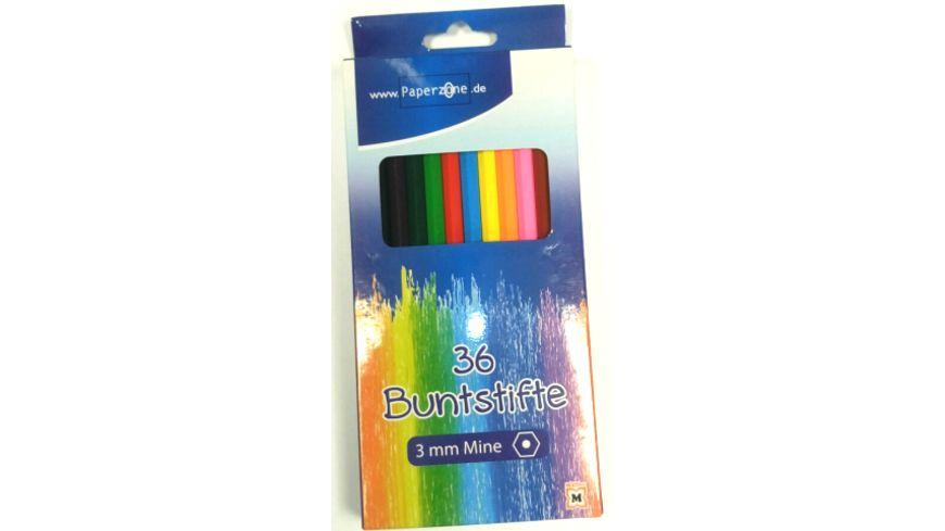 PAPERZONE Buntstifte Set 36teilig