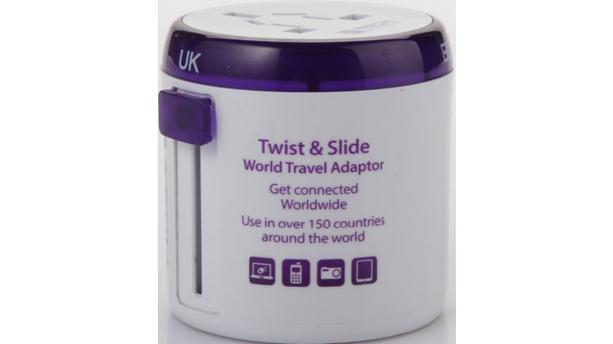 TravelBlue TWIST SLIDE Weltreise Adapter