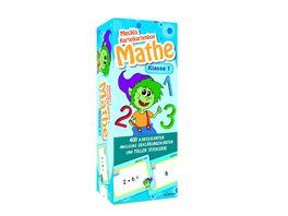 Karteibox Mathe Klasse 1 mit 400 farbigen Karteikarten und tollen Stickern