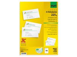 sigel Inkjet Visitenkarten Papier LP795 A4 100 Blatt