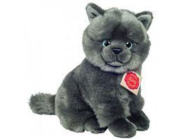 Teddy Hermann Kartaeuser Katze sitzend 20 cm