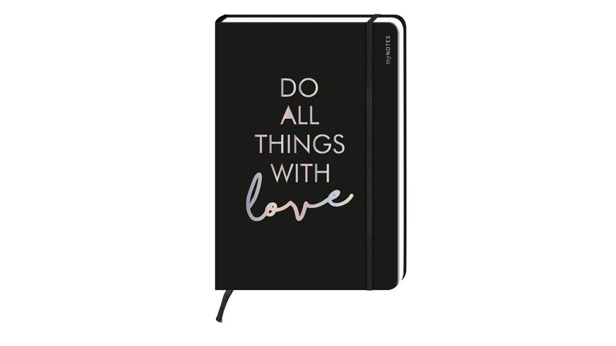 myNOTES Notizbuch punktkariert Do all things with love