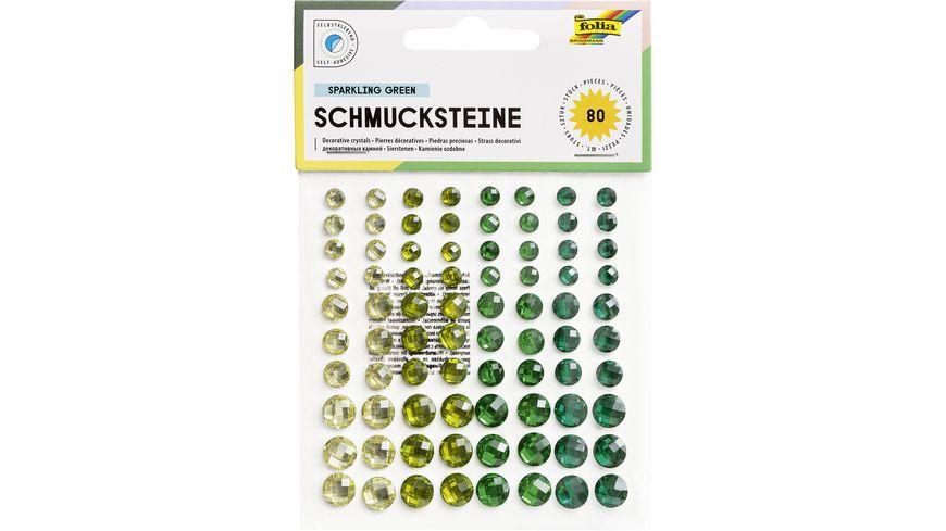 folia Schmucksteine selbstklebend emerald dreams 80 Stueck