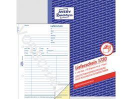 AVERY Zweckform Lieferschein 1720 1 und 2 Blatt bedruckt SD DIN A5