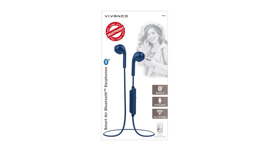 VIVANCO SMART AIR 3 BLAU OHRHOERER BLUETOOTH