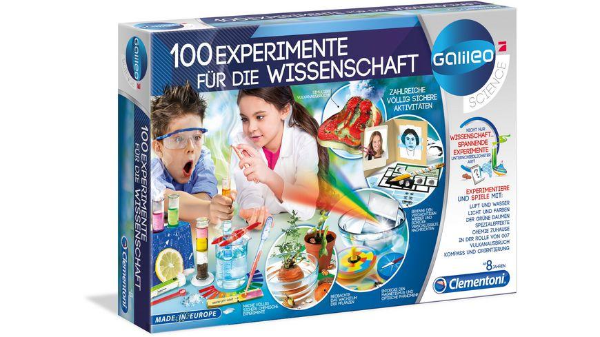 Clementoni Galileo 100 Experimente fuer die Wissenschaft
