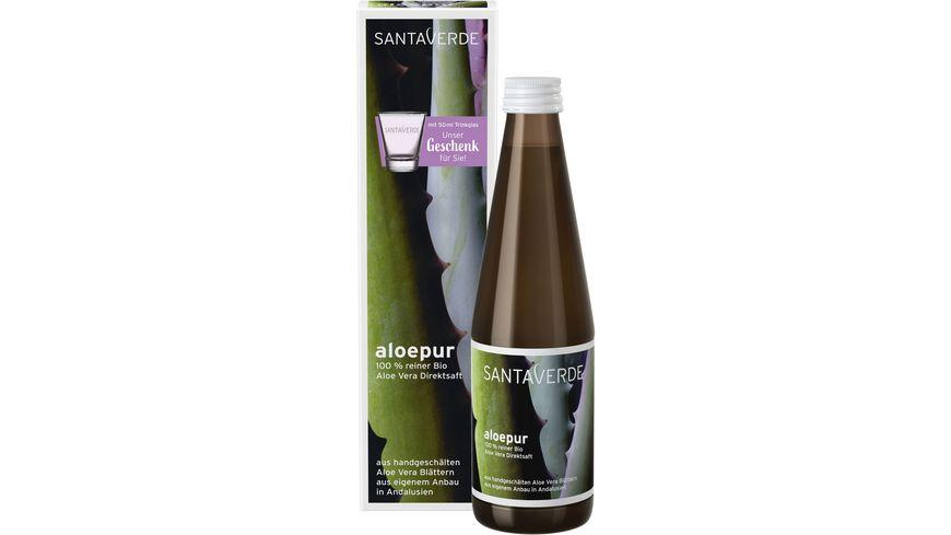 Santaverde aloepur 100 reiner Aloe Vera Saft