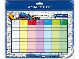 STAEDTLER Stundenplan mit Folienschreiber