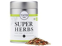 TEATOX Super Herbs Bio Kraeutertee mit Moringa looser Tee in Dose