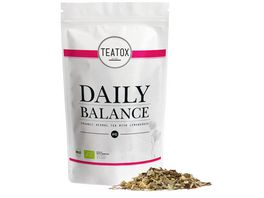 TEATOX Daily Balance Bio Kraeutertee mit Zitronengras looser Tee im Refill