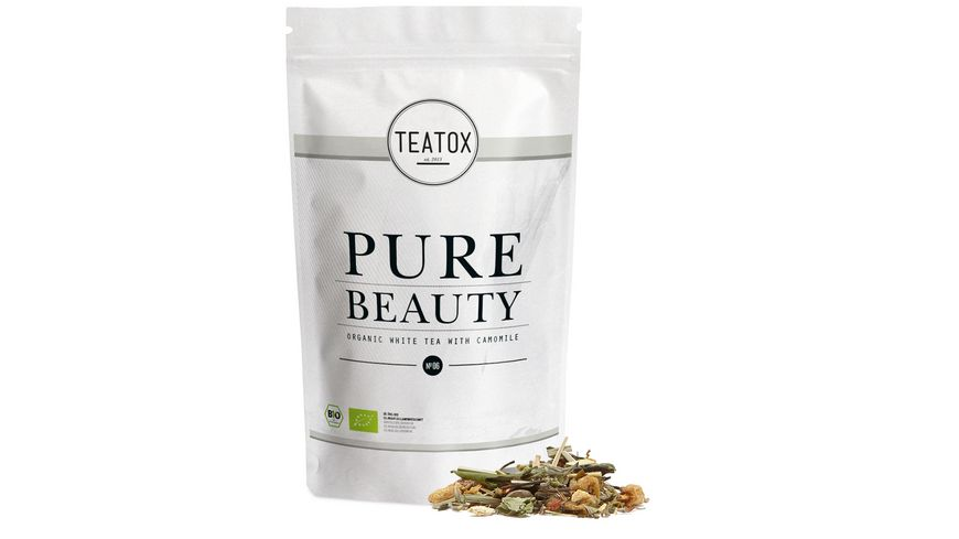 TEATOX Pure Beauty Bio weisser Tee mit Kamille Looser Tee im Refill