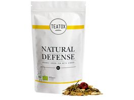 TEATOX Natural Defense Bio Gruentee mit Ingwer Looser Tee im Refill