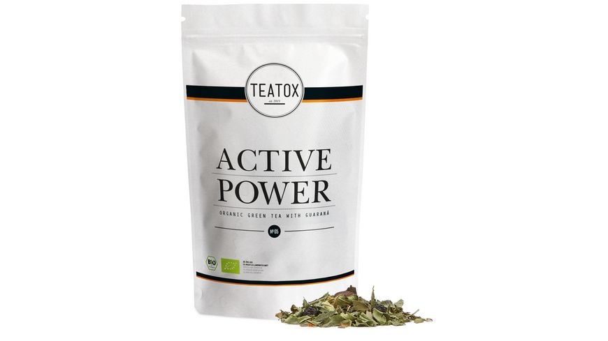 TEATOX Active Power Bio Gruentee mit Guarana Looser Tee im Refill
