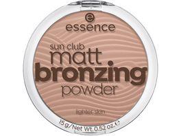 essence sun club matt bronzing powder 02 sunny